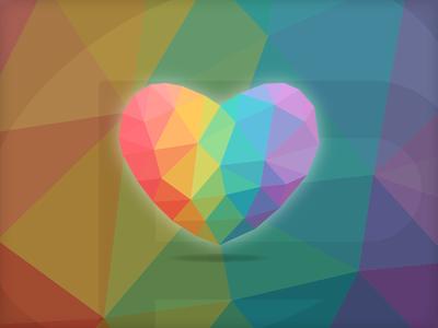 #LoveIsLove wins love pulse orlando lgbt shooting rainbow low poly illustration polygon heart