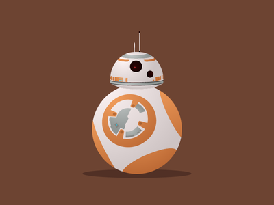 BB-8 bb8 may the fourth droid orange bb-8 star wars illustration