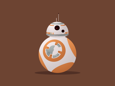 BB-8 bb8 may the fourth droid orange bb-8 star wars illustration