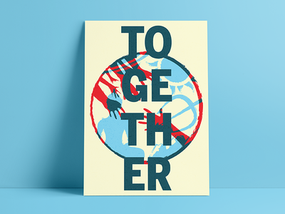Louisville Creative Jam Entry | TOGETHER screenprint print overprint adobe jam creative together louisville