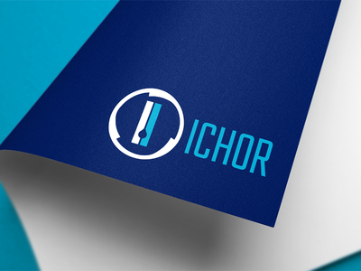 Ichor Logo rebranding branding cold cryo ice blue logos logo