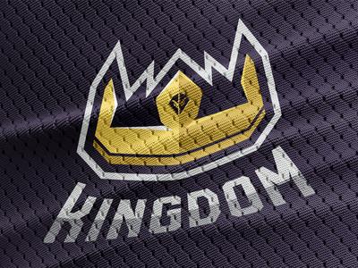 Kingdom Logo design jersey crown regal gold purple branding logo kingdom esports overwatch