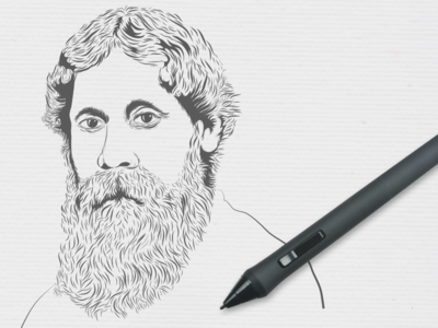 A quick sketch of Rabindranath Tagore - WIP