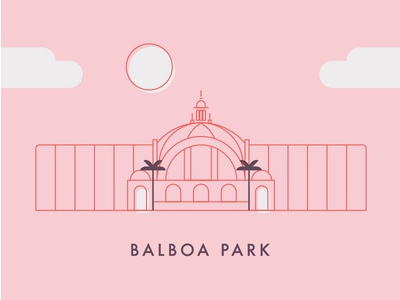 Balboa Park Illustration