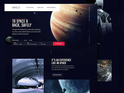SPACED Landing Page Concept website landing page ui design spacedchallenge