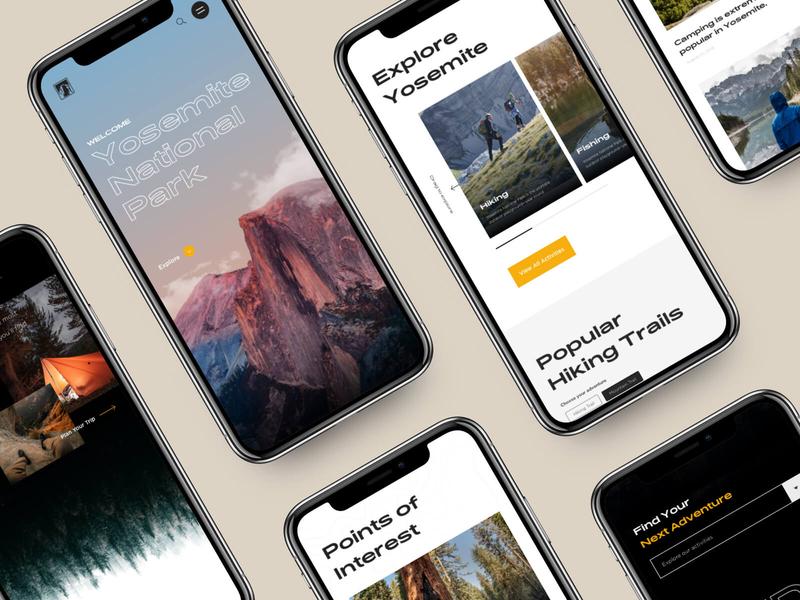 Yosemite Mobile Screens