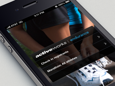 Mobile Check In App - for Endurance