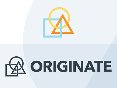 Originate Coworking Logo minimal simple shape logo cowork