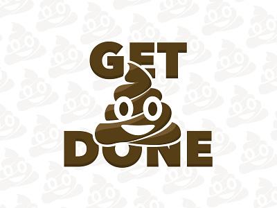 Get 💩 Done pattern emoji logo design illustration graphic vector