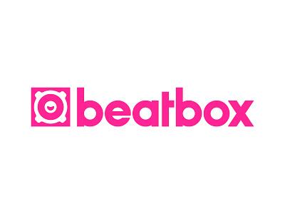 Beatbox Logo business cards logomark branding icon speaker boombox logo