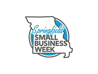 Springfield Small Business Week Logo script sticker circle missouri logomark business springfield design logo