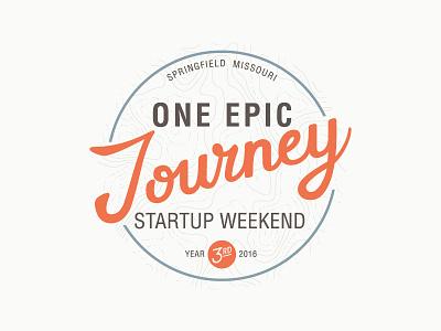One Epic Journey - Startup Weekend 2016 script typography graphic illustrator design logo weekend startup
