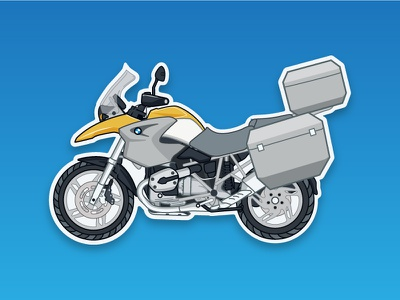 BMW R1200GS adventure icon wonder travel illustrator illustration graphic vector ride bmw motorcycle bike