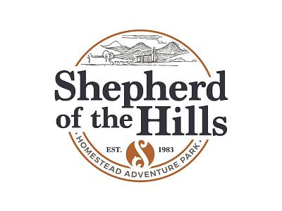 Shepherd of the Hills Logo Concept 2 homestead badge simple clean ozarks emblem logo