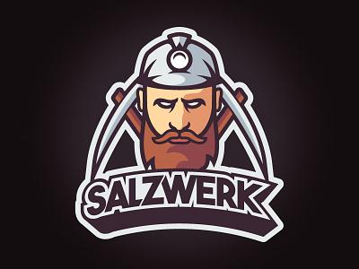 Salzwerk Logo mine face gaming mlg logo miner