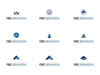 FBC Branson Logo Exploration triangle arrow church clean minimal icon simple illustrator design logo