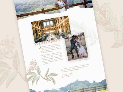 Sycamore Creek Website sketch modern floral ui ux simple graphic clean design web design website wedding