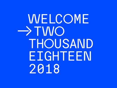 Welcome — 2018
