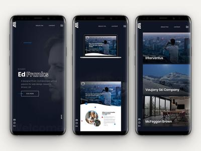 Portfolio Mobile Screens projects case study designer typography portfolio kds identity ux web design layout homepage website ui design