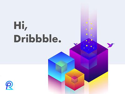 Hey guys :) isometric gradient web branding graphics logo ui ux designer fullstack design debut