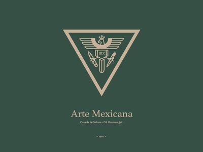 Arte Mexicana Logo illustrator photoshop fresno cerrillos luis branding black logo mark design