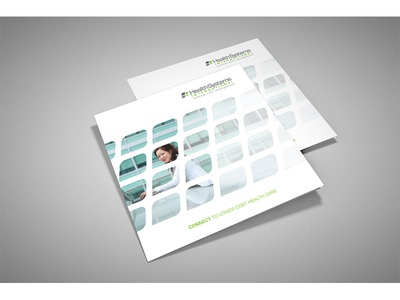 Health Systems International Brochure graphic design layout brochure