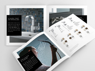 Delta Faucet Modern Products Brochure layout graphic design brochure products modern delta faucet
