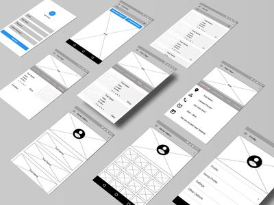 Wireframes - Trail App
