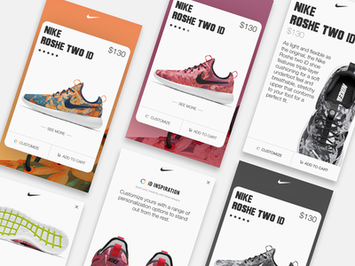 Nike Roshe Cards sneakers shoes ux ui cards roshe nike
