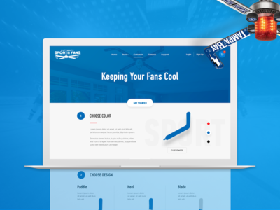 Ultimate Sports Fan - Landing page