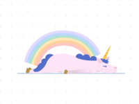 A fat lazy unicorn
