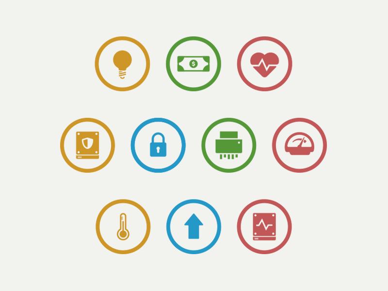 Piriform business icons