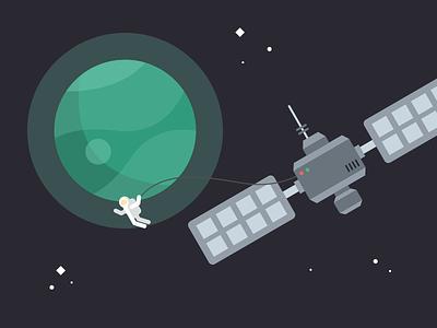 Space Apps Elements explore void black stars station planet space astronaut