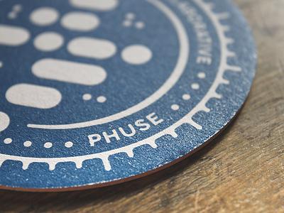 Coasters brand print letterpress tea coffee beer drink coaster phuse