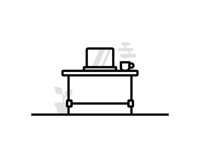 Hot Desk desk coworking private office illustration foundry