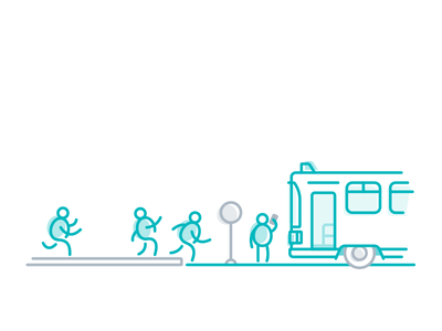 Boarding rider bus mobility transport ticketing mobile moovel transit