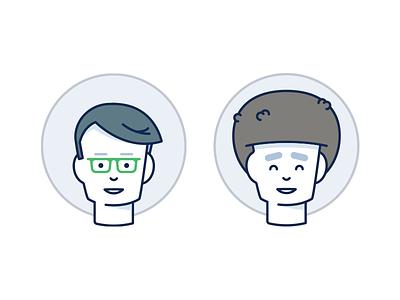 Occupation II user product marketing male job illustration female face avatar