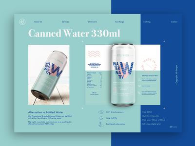 Eco-Friendly Canned Water Branding & Packaging
