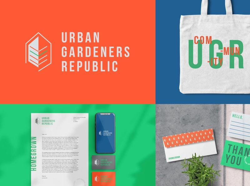 Urban Gardeners Republic - Brand Identity & Lead Magnets branding design packaging brand guideline typography infograhic brochure illustration logo icon design branding