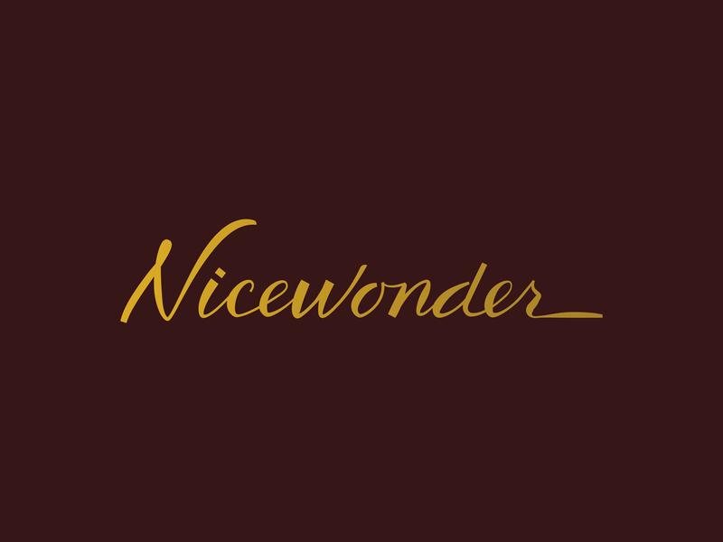 Nicewonder Script vineyard resort brand resort branding typography custom script