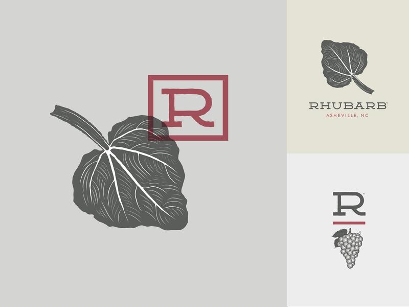 Rhubarb branding asheville fine dining restaurant rhubarb
