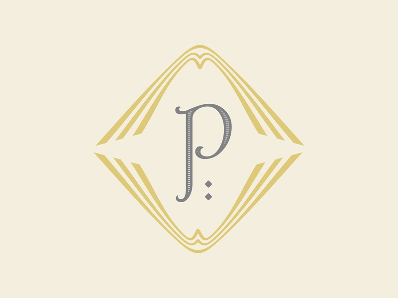 Letter P letter p branding deco typography
