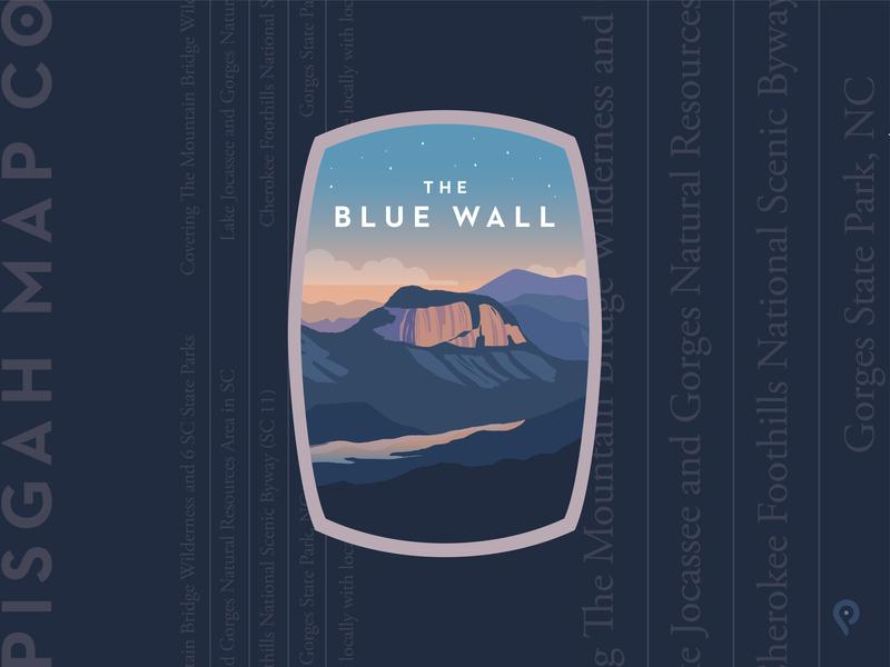 Pisgah Map Co - The Blue Wall