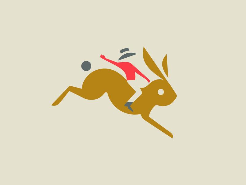 ShuttleBunny brand shuttle ride rodeo cowboy rabbit bunny