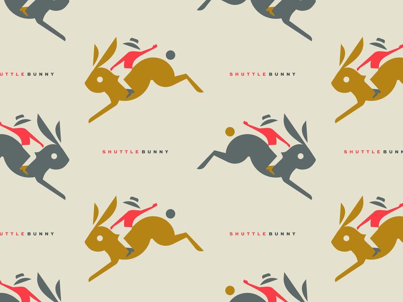 ShuttleBunny pattern brand pattern rodeo cowboy shuttle rabbit bunny