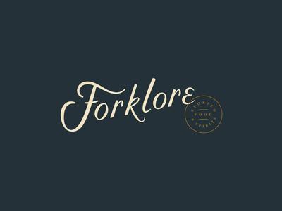 ForkLore seal asheville script custom script restaurant branding branding restaurant