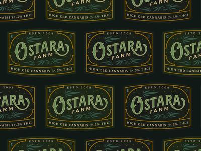 Ostara Label ostara label design packaging label flower cbd branding