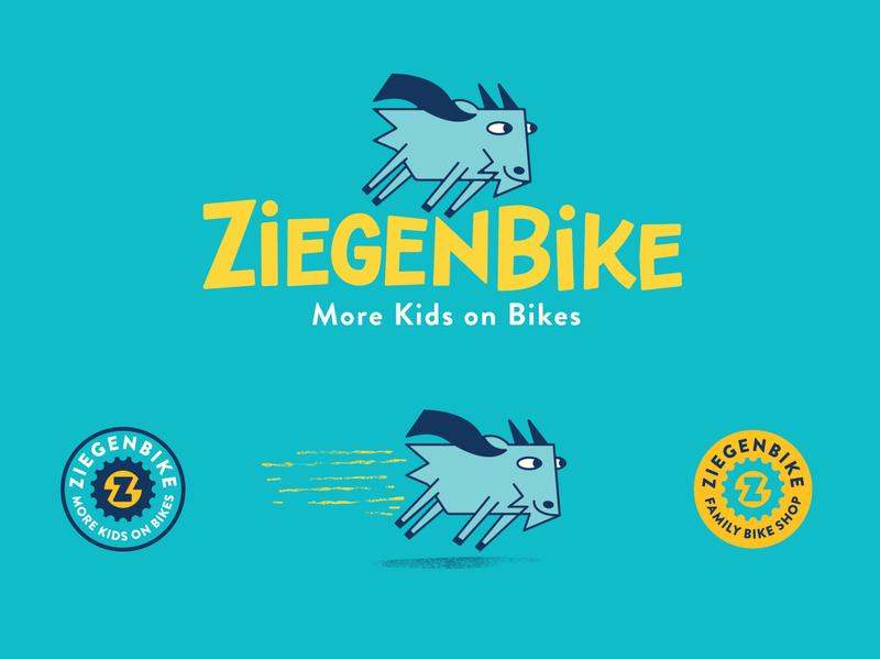 Ziegenbike branding hand lettering handlettering typography goat logo bicycle outdoors logo vector branding illustration design