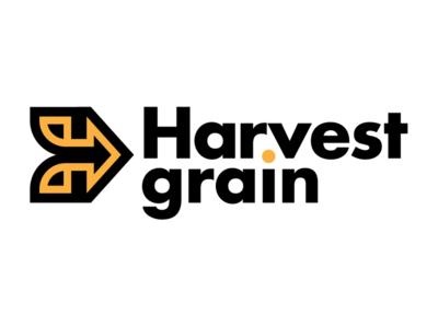 Harvest grain logo corn typography harvest grain logo branding design