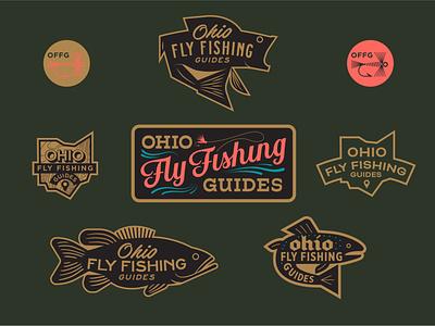 Ohio Fly Fishing Guides ohio logos logo system brand identity brand design fly fishing flyfishing icon adobe typography outdoors illustration logo vector branding design